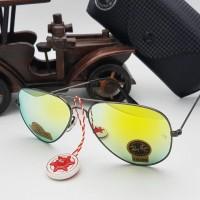 kacamata unisex rayban kuning gagang gun super full set