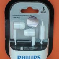 Philips Earphone SHE1405 + MIC / Ear Phone SHE 1405 + MIC / Philip