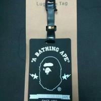 gantungan bape lugagge tag a bathing ape id card bape keychain bape