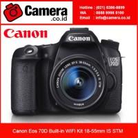 Canon Eos 70D Built-in WiFi Kit 18-55mm IS STM /Garansi Resmi