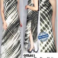 Jual D913  OneTheLand Green Tie Dye Halter Maxi Dress original branded Murah
