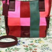 ready sale sale fossil emerson large patchwork pink
