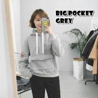Baju Wanita/tunik/sabrina/ Atasan/sweater Big Pocket Grey