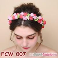 Jual Aksesoris Mahkota Bunga Pesta Pengantin-Flower Crown PreWedding-FCW007 Murah