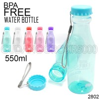 Jual Botol Minum Unik BPA Free 100% Anti tumpah (Transparan 2802) Murah