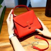 1262 Red Supplier Tas Wanita Import Batam Murah Backpack Ransel