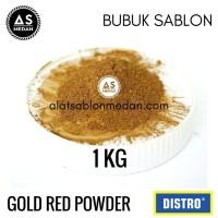 Bubuk Emas Halus Gold Red Powder Serbuk Sablon 1kg