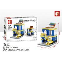 Lego Mini Block Sembo Rumah Toko Ikea Shop Store SD6066