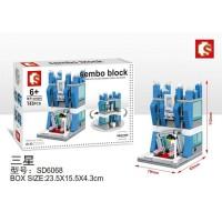 Lego Mini Block Sembo Rumah Toko Handphone Samsung Shop Store SD6068