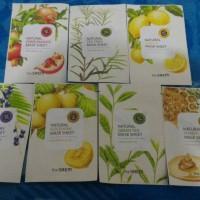 Jual Masker Wajah The Saem Original Korea Lemon/ Tea tree / Green Tea/ Hone Murah