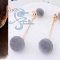 Jual Anting Fashion Korea Pom Pom Import Double Fuzzy Murah