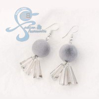 Jual Anting Pom Pom Crystal Import Korea Murah