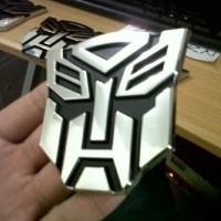 Emblem Logo Transformers Autobot Transformer Chrome Crum