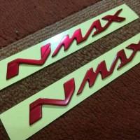 Jual Emblem Nmax Merah Metalic Murah