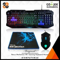 Rexus Warfaction VR1 Gaming Keyboard Mouse Combo - Free Mousepad