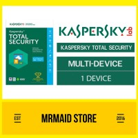 Kaspersky Total Security 1 PC / Pure 2017 1 Tahun