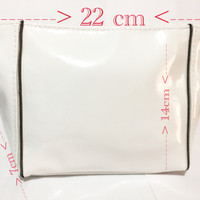 ysl pouch cosmetic putih glosy size large