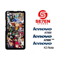 Casing HP Lenovo A7000, A7000 Plus, K3 Note anime wallpaper attempt Cu