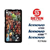 Casing HP Lenovo A7000, A7000 Plus, K3 Note Marvelcomics Custom Hardca