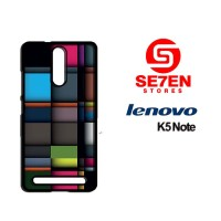 Casing HP Lenovo K5 Note iPhone Squares Custom Hardcase
