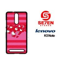 Casing HP Lenovo K5 Note Hello Kitty love Custom Hardcase