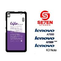 Casing HP Lenovo A7000, A7000 Plus, K3 Note Typography apple Custom Ha