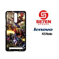 Casing HP Lenovo K5 Note marvel Custom Hardcase