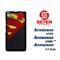 Casing HP Lenovo A7000, A7000 Plus, K3 Note Supeman logo Custom Hardca