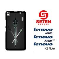 Casing HP Lenovo A7000, A7000 Plus, K3 Note Sword Art Custom Hardcase