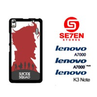 Casing HP Lenovo A7000, A7000 Plus, K3 Note suicide squad poster Custo