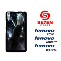 Casing HP Lenovo A7000, A7000 Plus, K3 Note Tokyo Ghoul Hoodies Kaneki