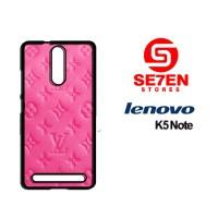 Casing HP Lenovo K5 Note LV Pink Custom Hardcase