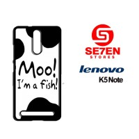 Casing HP Lenovo K5 Note moo fish Custom Hardcase