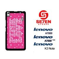 Casing HP Lenovo A7000, A7000 Plus, K3 Note victorias secret pink Cust