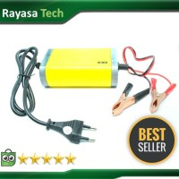 Alat Cas Aki Motor&Mobil/Portable Motorcrycle Car Battery Charger 12V