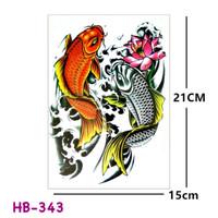 Harga mx 1032 temporary tattoo koi   tato ikan oriental | DEMO GRABTAG