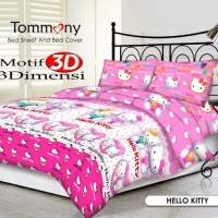 Tommony Bed Cover Double - Hello Kitty