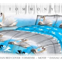 Tommony Bed Cover Double - Danau Angsa