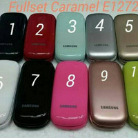 Casing/Case/Kesing Samsung Lipat Caramel E1272 fullset