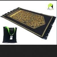 Jual Sajadah Jeans moslem Gold Flower Murah