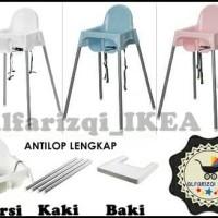 Jual IKEA ANTILOP, kursi makan anak / bayi / baby dengan baki, high chair Murah