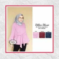 Baju Wanita/tunik/sabrina/baju Atasan/ribbon Blouse