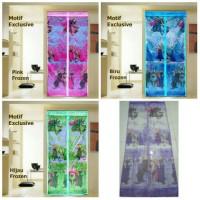 Jual Tirai Pintu Magnet Anti Nyamuk Motif Frozen Murah