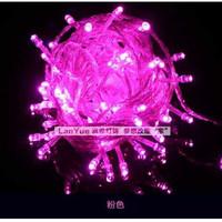 Jual Lampu LED Natal/lampu hias/warna pink +colokan sambungan Murah