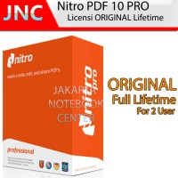 Software Nitro PDF Pro 10 Original Lifetime License 2 PC / User