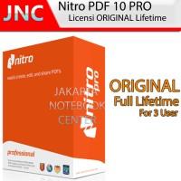 Software Nitro PDF Pro 10 Original Lifetime License 3 PC / USER