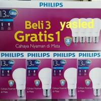 Jual bohlam lampu PHILIPS LED 13W 13 W 13WATT 13 WATT putih 4pcs Murah