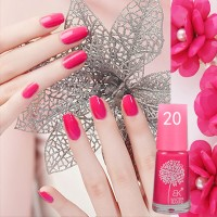 Raspberry Pink (20) BK Peel Off Nail Polish Kutek Halal Water Based