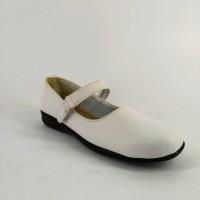 Sepatu Wanita Pantofel Paskibraka Flat Shoes Arl Putih