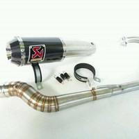 knalpot racing akrapovic for 150cc vixion R15 byson cbr gsx satria fu